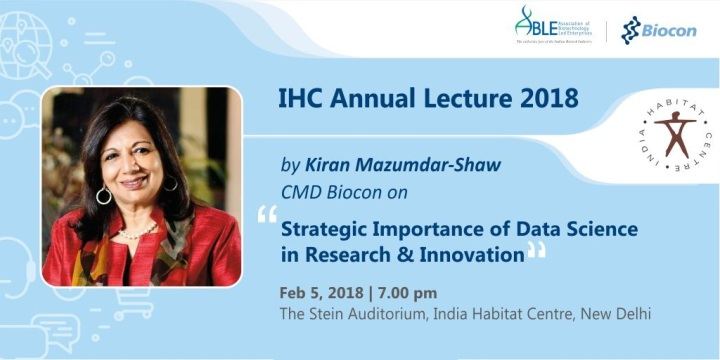 IHC Public Lecture: Strategic Importance Of Data Sciences In Research And Innovation
